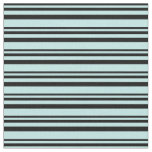 [ Thumbnail: Black and Turquoise Colored Pattern of Stripes Fabric ]