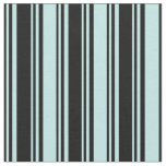 [ Thumbnail: Black and Turquoise Colored Stripes Fabric ]