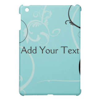 Black and Turquoise Floral iPad Mini Cover