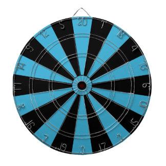 Black and Turquoise Stripe Dart Board