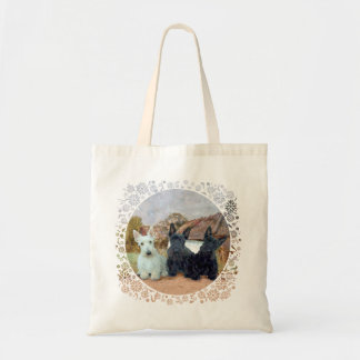 Black and Wheaten Scottish Terriers Tote Bags