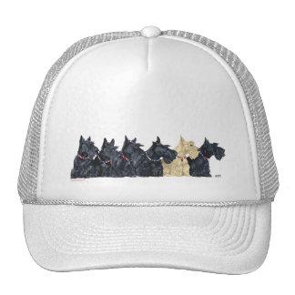 Black and Wheaten Scottish Terriers Trucker Hat