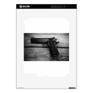 Black and White 1911 iPad 2 Decal
