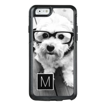 Black And White 1 Photo Collage Custom Monogram Otterbox Iphone 6/6s Case by MarshEnterprises at Zazzle