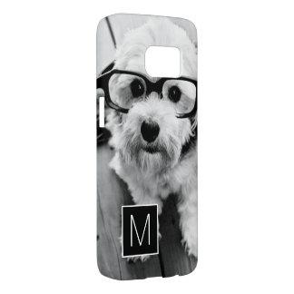 Black and White 1 Photo Collage Custom Monogram Samsung Galaxy S7 Case