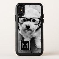 Black and White 1 Photo Collage Monogram OtterBox iPhone XS Case