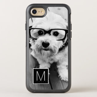 Black and White 1 Photo Collage Monogram OtterBox Symmetry iPhone 7 Case