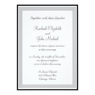 Black and White 1 Wedding Invitation
