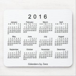 Black and White 2016 Calendar by Janz Mousepad