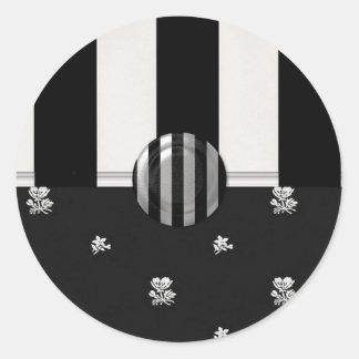 Black and White  (2) Classic Round Sticker