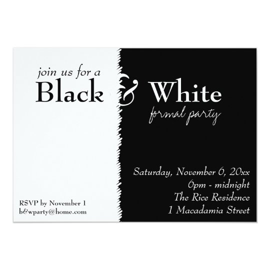Black And White Themed Invitations Announcements – Black and White Party Theme Invitations