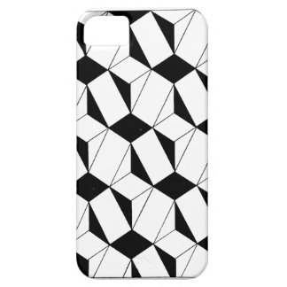 Black and White 3D Cube Pattern iPhone SE/5/5s Case