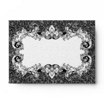 Black and White A6 Gothic Baroque Envelopes