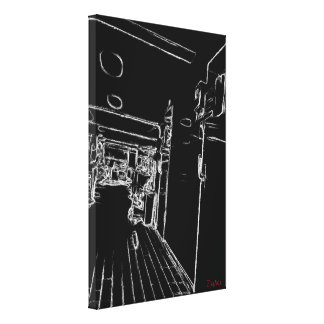 black and white a room canvas print