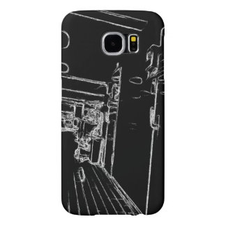 black and white a room samsung galaxy s6 cases
