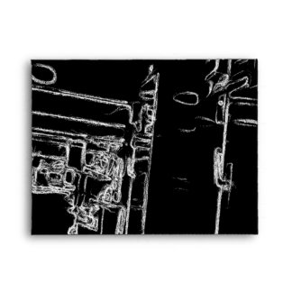 black and white a room envelope