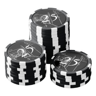 black and white a room poker chips set