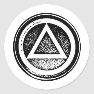 Black and White AA Recovery Sobriety Sticker