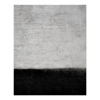 Black and White Abstract Art Poster Print