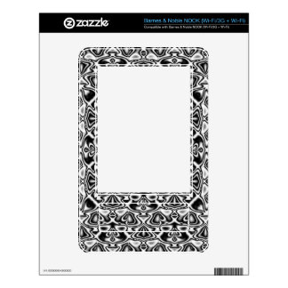 Black and White Abstract Barnes & Noble NOOK Skin