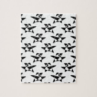 Black And White Abstract Bird Pattern Jigsaw Puzzles