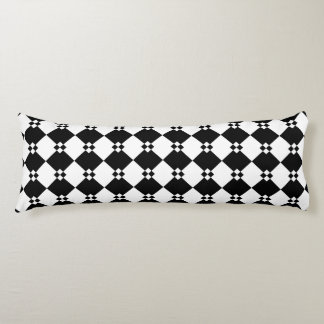 Black and White Abstract Body Pillow