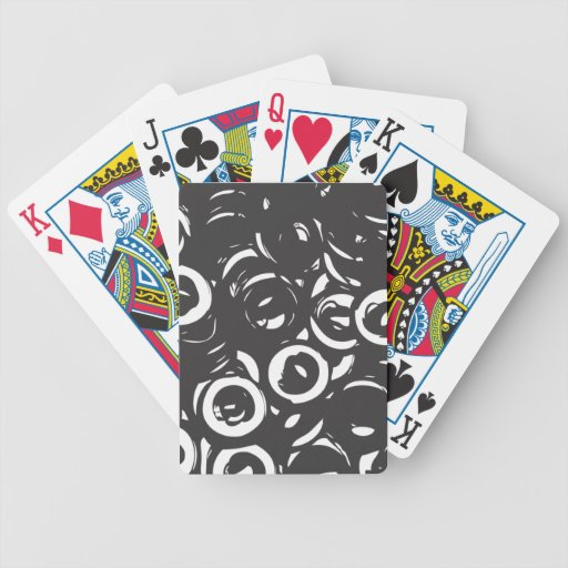 Black and white abstract bolts bicycle playing cards