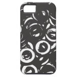 Black and white abstract bolts iPhone 5 cover
