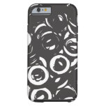 Black and white abstract bolts iPhone 6 case