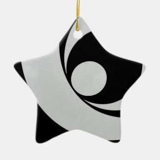 Black and white abstract brackground. ceramic ornament