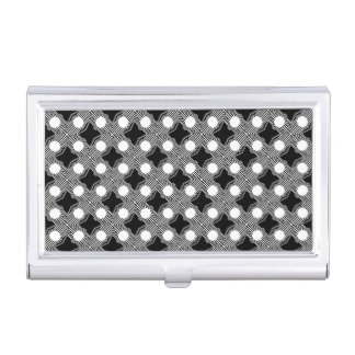 Black and White Abstract Business Card Holder