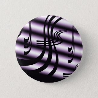 Black And White Abstract Button