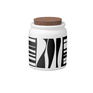 Black and White Abstract Candy Jars