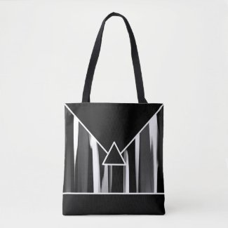 Black and White Abstract Designer Tote Bag