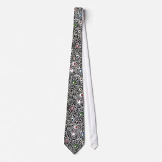 Black and White Abstract Eggs Neck Tie