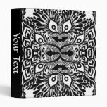 Black And White Abstract Explosion Binders