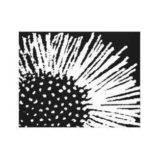 Black and White Abstract Floral Canvas Print