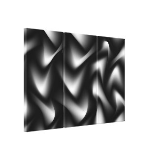 Black and White Abstract Gallery Print Gallery Wrapped Canvas