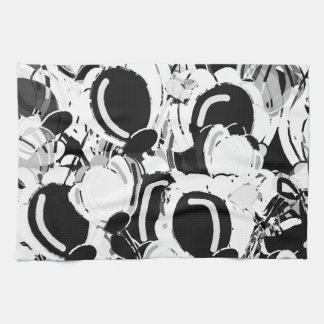 Black and white abstract garden kitchen towel