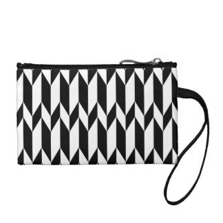 Black and White Abstract Graphic Pattern. Coin Purses