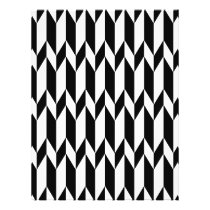 Black and White Abstract Graphic Pattern. Flyer