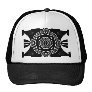 Black and White Abstract.jpg Trucker Hat