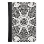 Black And White Abstract Kindle Case