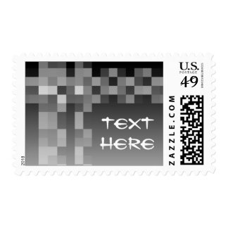 Black and White Abstract Modern Design. Postage