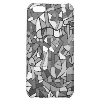 black and white abstract mosaic cover for iPhone 5C