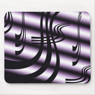 Black And White Abstract Mousepad