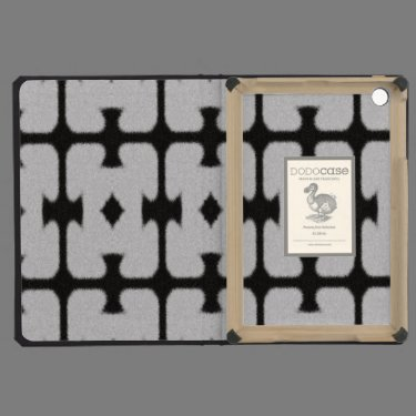 Black and white abstract pattern iPad mini covers