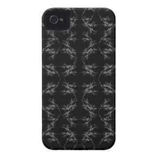 Black and White Abstract Pattern iPhone 4 Cover