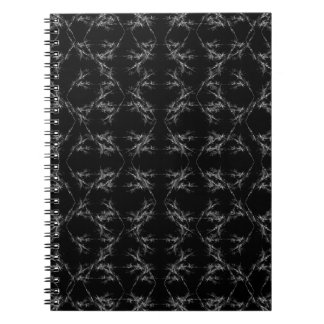 Black and White Abstract Pattern Spiral Note Book