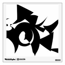 Black and White Abstract Pattern. Wall Sticker
